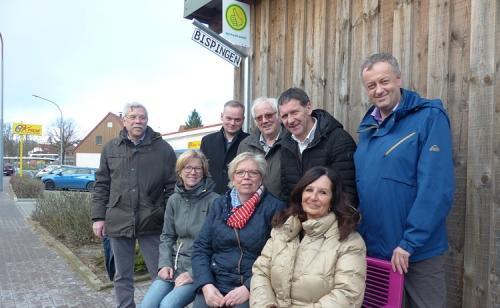 Einweihung der Mitfahrerbank in Soltau, Winsener Strasse mit der CDU Soltau