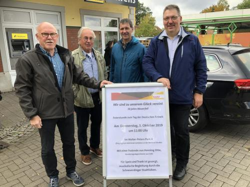 Marktstand mit der CDU Schneverdingen, September 2019